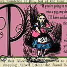 Alice in Wonderland and Through the Looking Glass Alphabet P by Samitha Hess Edwards