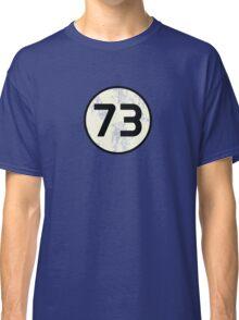 Sheldon Cooper - Distressed Vanilla Cream Circle 73 Black Standard Classic T-Shirt