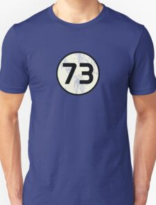 Sheldon Cooper - Distressed Vanilla Cream Circle 73 Black Standard Unisex T-Shirt