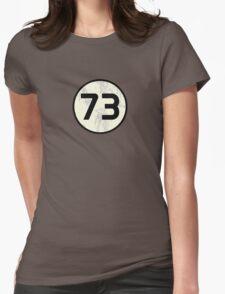 Sheldon Cooper - Distressed Vanilla Cream Circle 73 Black Standard Womens Fitted T-Shirt