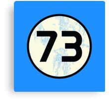 Sheldon Cooper - Distressed Vanilla Cream Circle 73 Black Standard Canvas Print