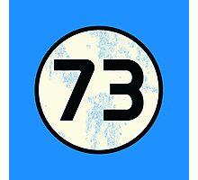 Sheldon Cooper - Distressed Vanilla Cream Circle 73 Black Standard Photographic Print