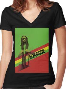 Alborosie Women's Fitted V-Neck T-Shirt