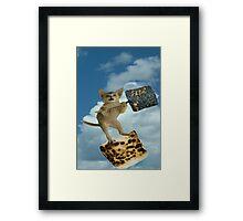 marshmallow cat Framed Print