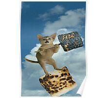 marshmallow cat Poster