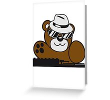 mischpult celebrate dj party music hat hang club disco plate ribbon cool teddy bear sweet Greeting Card