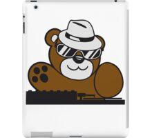 mischpult celebrate dj party music hat hang club disco plate ribbon cool teddy bear sweet iPad Case/Skin
