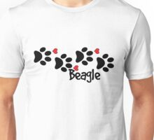 DOG PAWS LOVE BEAGLE DOG PAW I LOVE MY DOG PET PETS PUPPY STICKER STICKERS DECAL DECALS Unisex T-Shirt