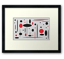 Black and Red No. 1 Framed Print