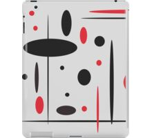 Black and Red No. 1 iPad Case/Skin