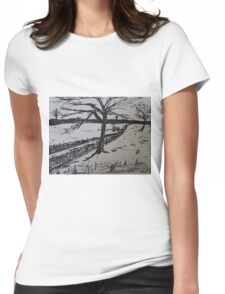 Uk Countryside  Womens Fitted T-Shirt