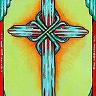 Turquoise Cross by WildestArt