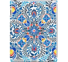 Blue, yellow, orange floral mandala pattern iPad Case/Skin
