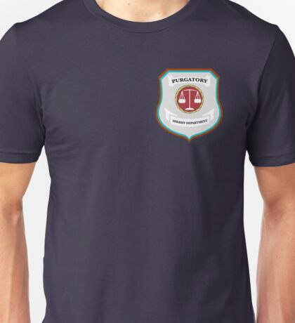 Purgatory Sheriff Department (Chest Logo) Unisex T-Shirt