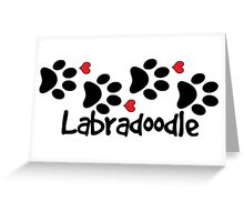 LABRADOODLE DOG PAWS LOVE LABRADOODLES DOG PAW I LOVE MY DOG PET PETS PUPPY STICKER STICKERS DECAL DECALS Greeting Card