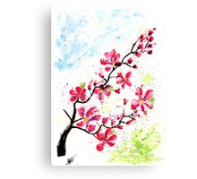 Splatter Cherry Flower Canvas Print