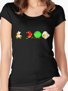 BurgerTime Retro Chase Graphic Women's Fitted Scoop T-Shirt