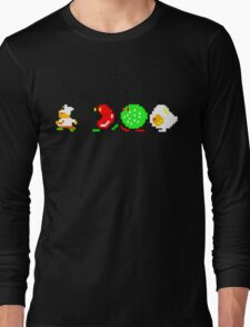 BurgerTime Retro Chase Graphic Long Sleeve T-Shirt