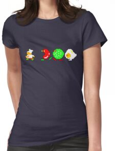 BurgerTime Retro Chase Graphic Womens Fitted T-Shirt