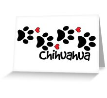 DOG PAWS LOVE CHIHUAHUA DOG PAW I LOVE MY CHIHUAHUAS DOG PET PETS PUPPY STICKER STICKERS DECAL DECALS Greeting Card