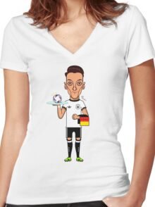 Ozil (SuperEuros) Women's Fitted V-Neck T-Shirt