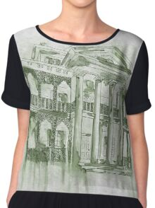 Beware Hitchhiking Ghosts Chiffon Top