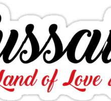 Toussaint, The Land of Love & Wine - The Witcher (Black)  Sticker