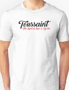 Toussaint, The Land of Love & Wine - The Witcher (Black)  Unisex T-Shirt