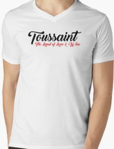 Toussaint, The Land of Love & Wine - The Witcher (Black)  Mens V-Neck T-Shirt