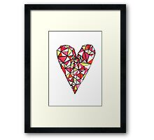 Graphic Heart Framed Print