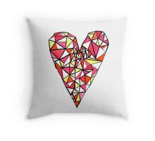Graphic Heart Throw Pillow