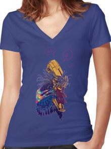 guardian of songbirds Women's Fitted V-Neck T-Shirt