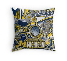 Michigan Collage Throw Pillow