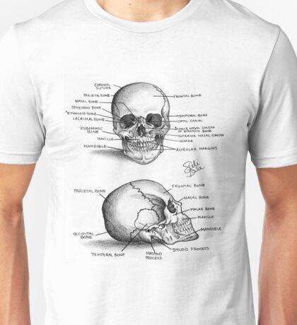 Anatomy of a Human Skull Unisex T-Shirt