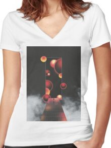 Void Vibes Only Women's Fitted V-Neck T-Shirt