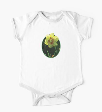 Yellow Double Daffodil One Piece - Short Sleeve