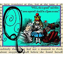 Alice in Wonderland and Through the Looking Glass Alphabet Q Photographic Print