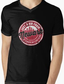 JUST A KID FROM NEWARK IT'S WHERE MY STORY BEGINS Mens V-Neck T-Shirt