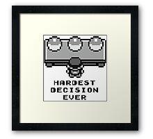 Pokemon - Hardest decision ever Framed Print