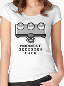 Pokemon - Hardest decision ever Women's Fitted Scoop T-Shirt