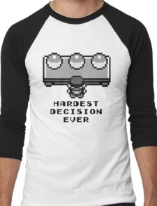 Pokemon - Hardest decision ever Men's Baseball ¾ T-Shirt