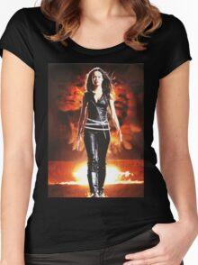 Summer Glau - BADASS WOMEN Women's Fitted Scoop T-Shirt
