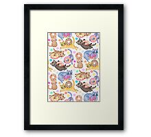 Sprinkles on Donuts and Whiskers on Kittens Framed Print
