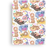 Sprinkles on Donuts and Whiskers on Kittens Canvas Print