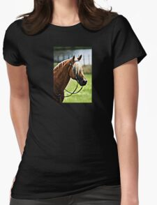 Horse View 2 Womens Fitted T-Shirt