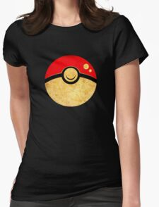 °GEEK° Pokeball Rust Style Womens Fitted T-Shirt