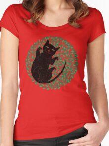 Summer cat Women's Fitted Scoop T-Shirt