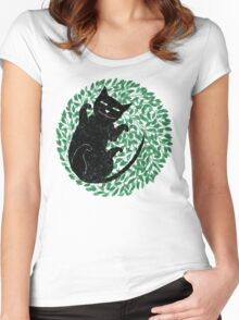 Summer cat Women's Fitted Scoop T-Shirt