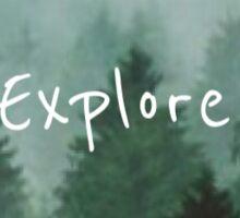 Explore Mountains 3 Sticker