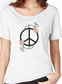 Peace, Daisy, Swirl Illustration Women's Relaxed Fit T-Shirt